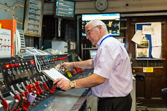 TfL Image - Edgware Road signalling cabin 1 (Transport for London Press Images) Tags: circleline controls districtline edgwareroad londonunderground operations points signal signalling tube