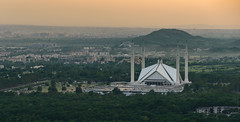 Shah Faisal Mosque in late afternoon light (Aleem Yousaf) Tags: ilobsterit shah faisal mosque late afternoon light architecture margalla hills nikon d800 photo walk haze damnekoh islamabad pakistan capital