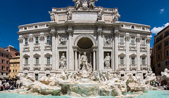 Rome :: Trevi Fountain (CAscotPhotography) Tags: cascotphotography panorama rome italy fountain water statue architecture monument nikon d7100