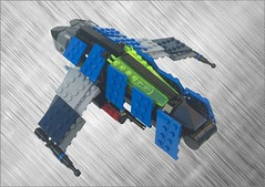 Blue Fighter (Malydilnar) Tags: lego space fighter ship