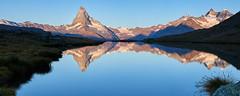 Good morning Switzerland! (Photo_Flow) Tags: stellisee switzerland schweiz landscape landschaft alps alpen mirror spiegelung matterhorn cervinio wallis 7dii sigma1835 sunrise sonnenaufgang panorama