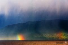 From Puerto Chacabuco to the open sea III (hapePHOTOGRAPHIX) Tags: 152chl amricadelsur aysn chile gelaende landschaft landschaftsform meer nikond750 regenbogen southamerica sdamerika topographie wetter hapephotographix landscape mar rainbow sea terrain topography arcoiris cl