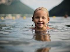 Water Portrait (B-Lichter) Tags: olympus pen epl7 zuiko 4518 portrait water girl child lake summer swimming alpes switzerland ticino luganolake