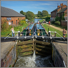 Going down! (Jason 87030) Tags: locks gates water goingdown bottom lock wet guc grandunioncanal scene view square frame border drydock shop boating narrowboat braunston northants northamptonshire people girls capture sony ilce flickr tag breast bricks boobs sunny summer photograph color colour lovely nice towpath holiday leisure nipple boat vessel craft local september 2016 waterways shadow reflection image light nex descent splash flow bottomlock 01september september01 trust relaxing tranquill uk england unitedkingdom greatbritain hobby pastime