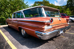 1960 Pontiac wagon (hz536n/George Thomas) Tags: riversidepark orphanscarshow 2016 cs5 canon canon5d ef1740mmf4lusm hdr michigan pontiac september summer ypsilanti carshow copyright nik stationwagon wagon