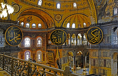 1897 V2 P4 From the Galleries Hagia Sophia (chrisdingsdale) Tags: hagia sophia istanbul turkey amazing stunning interesting incredible sofia history historical place prayer arches decorations motifs mural private box gallery worship religion religious belief creed faith chandeliers craft craftsmanship public balcony relics artifacts hieroglyphics logos arabic domes architectural detail detailing monument features landmark tourism spot radiant vibrant intense unusual angles patterns shapes forms lines circles arcs geometrical art