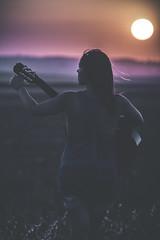 Carretera Arahal - Carmona (MrKertaf) Tags: guitar sunset girl sun sol guitarra chica nia mujer carretera campo canon60d 135mm 28f photoshop atardecer rojo azul red blue relax peace karma good musica music andalucia andalusia sevilla seville carmona arahal guadalquivir