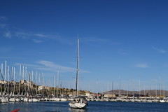 No Place for Me ... (kostakai) Tags: lavrio greece port sailing sailboat sky blue seascape sea