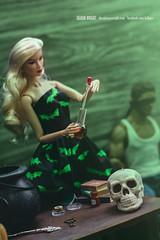 Love Potion #9 (Sharon Wright Photography) Tags: witch potion love manipulation diorama doll toy barbie kyori integrity toys onesixthbox hottoys chrispratt sharonwright dollpics fashiondoll photo shoot halloween lovepotion 9 spell castaspell putaspell curse