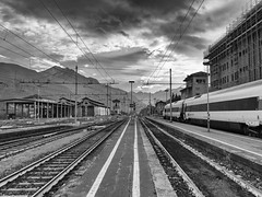 Domodossola, Italy (luciano_campani) Tags: train stazione station cityscape eurocity bahnhof zug railway railroad eisenbahn domodossola binari binario italia italy italie italien