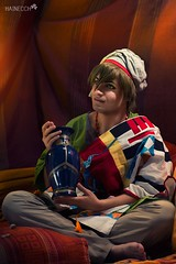 8 (haine.otomiya) Tags: free makoto anime manga guy male cosplay cosplayer tent warm blue porcelain indoor shooting setting arabian arabic