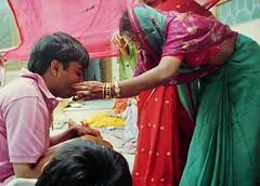 Bridegroom and woman relative (bokage) Tags: wedding woman india dress bridegroom jaipur rajasthan