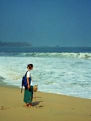 T on beach alone , 64-74/2053 (roba66) Tags: travel sea woman seascape beach water lady strand t landscape mar reisen meer mare urlaub paisaje explore frau landschaft voyages brandung natureandpeopleinnature roba66