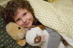 Snug (Monkey Mash Button) Tags: girl animals hair stuffed curly