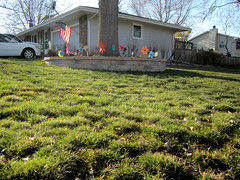 spring whirligigs (Mark.Swanson) Tags: ranch house tree cars grass wall canon illinois spring lawn normal whirligig canonpowershotelph100hs