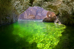 Emerald Cave (BDFri2012) Tags: arizona green water reflections river desert coloradoriver emerald blackcanyon emeraldcave lakemeadnationalrecreationarea