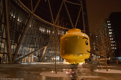 A night at Wonderland (Neil Zeller Photography) Tags: calgary fun lego alberta wonderland plensa legohead bowtower