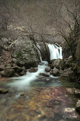 WINTER WATERFALL IN CAZORLA NATURAL PARK (JLuisOrtn (OFF !)) Tags: life park winter color nature water waterfall spain europe natural nopeople transparency andalusia cascade abundance scenics cazorla tranquilscene verticalimage forestriver sierradesegura jaenprovince joseortin