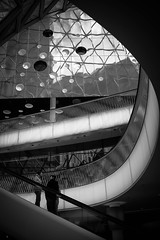 Long way up (maggusw) Tags: street fuji frankfurt streetphotography myzeil x100s