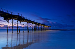 Piering into the dark. (paul downing) Tags: longexposure sunset beach pier spring nikon northsea filters hitech 0609 gnd saltburnbythesea coastaluk pd1001 d7000 pauldowning pauldowningphotography