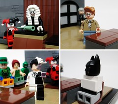Trial Extras (Julius No) Tags: lego harley batman quinn judge joker series animated trial scarface twoface