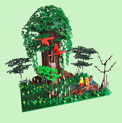 Secret Of Mana (Deviet) Tags: tree lego secret nintendo super swamp mana moc squaresoft secretofmana seiken of densetsu deviet seikendensetsu2