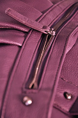 047 (Coomlan) Tags: sac violet mauve objet ligne cuir accessoire fermetureéclair