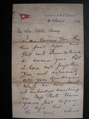 One of The Last Letters Sent from The Titanic. Posted in Queens Town Ireland 11th of April 1912. (Jimmy Big Potatoes) Tags: ship iceberg atlanticocean oceanliner whitestarline rmstitanic tragedie