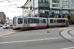 Muni 1495 [San Francisco tram] (Howard_Pulling) Tags: sf sanfrancisco california ca photo nikon picture tram april breda trams strassenbahn lrv 2013 hpulling howardpulling d5100