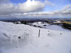 Cheviot Snow (Prosthetic_Head) Tags: sky mountain snow cold ice clouds walking outdoors countryside view hill climbing northumberland cheviot