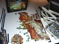 'Birth of Venus' by Botticelli.Clementoni puzzle 4000 pieces (Piecefull) Tags: botticelli birthofvenus clementonipuzzle 4000piecepuzzle progresspuzzle
