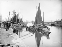 Uh oh! (National Library of Ireland on The Commons) Tags: ireland boats anne chains october fishermen harbour crane 19thcentury sails sailors quay fishingboats wicklow masts 1886 rigging irishman arklow glassnegative 1880s leinster robertfrench williamlawrence nationallibraryofireland arklowharbour 344d lawrencecollection limerickbybeachcomber dateestablished irishmanarklow