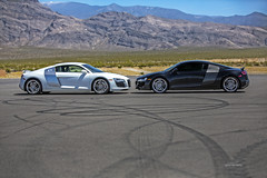 6V2A4528mv (QuattroChallenge) Tags: blackandwhite audi goodvsevil r8 springmountain acna skidpad hdraward audiclubsocal
