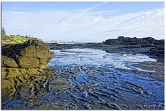 The Sea Between (fotografdude) Tags: sunlight beach buildings reflections shadows sony ripples tidal sunshinecoast mooloolaba rockpools rx100 fotografdude