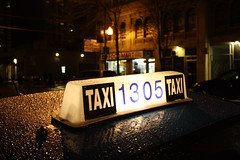 Taxi 1305 (Flint Foto Factory) Tags: camera city urban chicago reflection texture water coffee night evening photo illinois spring cafe apartments nocturnal market granville cab taxi north broadway company numbers american dew letter april metropolis aroundtown edgewater foodmart grandeur chicagoist featured 2013 sooc straightoutof