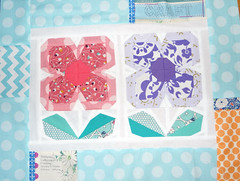 Foundation Paper Piecing- 3rd Attempt (Roxy Creations) Tags: flowers quilt handmade zakka pinkpenguin foundationpaperpiecing roxycreations patchworkplease
