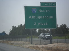 I-10 East Approaching I-25 (sagebrushgis) Tags: newmexico sign intersection i10 lascruces i25 biggreensign freewayjunction