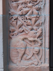 Grotesque, Confederation Life Building (grecomic) Tags: sculpture toronto architecture downtown stonework yongestreet stonecarvings brownstone beauxarts confederationlife yongerichmond confederationlifebuilding richmondstreeteast richmondste