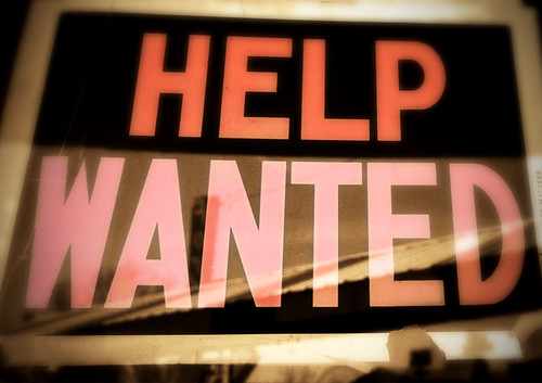 Help wanted, From FlickrPhotos