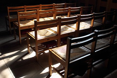 Sunlight on chairs (mommaskill) Tags: shadow sunlight church chairs bullring birminghamuk odc stmartinschurch