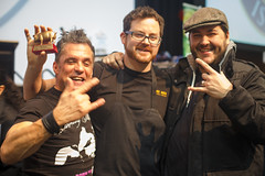 Three Aces Golden Rasher celebration - Baconfest 2013.jpg (opacity) Tags: chicago illinois il baconfest uicforum baconfestchicago chicagobaconfest baconfest2013 baconfestchicago2013 chicagobaconfest2013 baconfest2013candidish baconfestcasuals2013 baconfest2013nondishes baconfest2013announcements