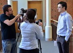 Nick Cheng's Interview for Showcase Video (zsrlibrary) Tags: event wfu wakeforest wakeforestuniversity zsmithreynoldslibrary wak zsr seniorshowcase zsrlibrary