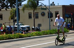Chris Wahl, MD on Elliptigo - a big kid!