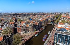Canals of Amsterdam (UNESCO World Heritage Site) (Maria_Globetrotter) Tags: world from above travel panorama holland heritage tourism netherlands amsterdam architecture canon site spring europe day view humanity over perspective nederland meeting windy landmark visit aerial unesco clear planet prinsengracht lonely iconic paysbas pases cultural attractions overview  arki
