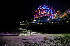 Santa Monica Pier (Images by April) Tags: longexposure canon lowlight nightshot ferriswheel amusementpark 5d santamonicapier markii llens
