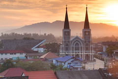 The Chanthaburi Cathedral (baddoguy) Tags: city church monument statue architecture landscape thailand religious town ancient community flickr cathedral religion landmark images explore getty gettyimages immaculateconception chanthaburi gettyimagesstock