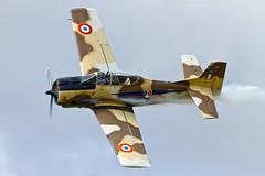 North American AT-28D Trojan - 1 (NickJ 1972) Tags: charity aviation airshow trojan 2012 fennec t28 northamerican littlerascal littlegransden n14113 517545