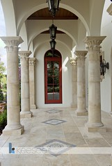 InSync Side Door (GoKeesee) Tags: door florida columns reddoor walkway marble baldwinpark ibs sideentrance insync customhome customdesign luxuryhome internationalbuildersshow insynchome tileflooring customhomedesign homedesigner awardwinninghome gokeesee