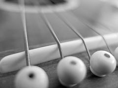 guitar bridge (Hebetheclick) Tags: bridge bw white black point guitar sharp fujifilm x10 focal mdp 2013 mdpd 201305