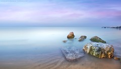 Stillness (khalid almasoud) Tags: morning light sea beach ex speed dc rocks flickr all quiet photographer place superb time pentax  sigma iso rights serenity estrellas absolutely 100 feeling kuwait af ideal simply stillness khalid reserved purity f35 icapture      greatphotographers  hsm   photographyrocks k01  10mm20mm almasoud    perrrfect    anjafah